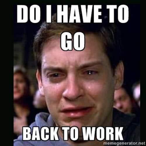 sunday night go back to work meme