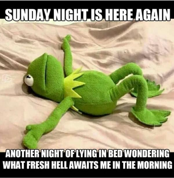 sunday night is here again meme