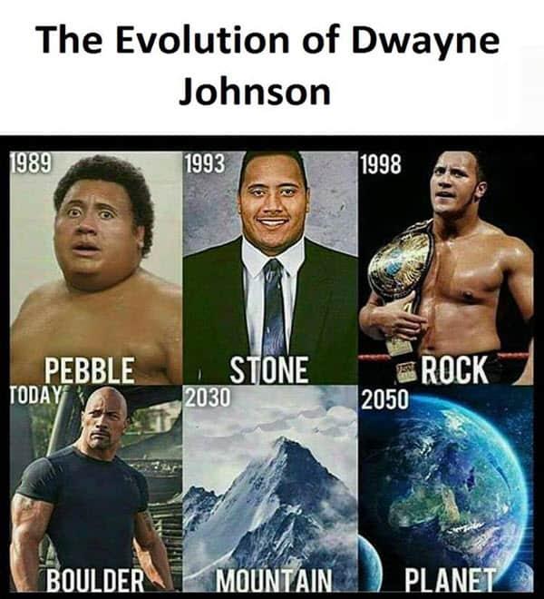 super funny evolution of dwayne johnson memes