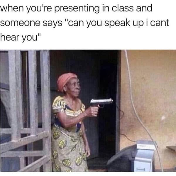 super funny presenting in class memes