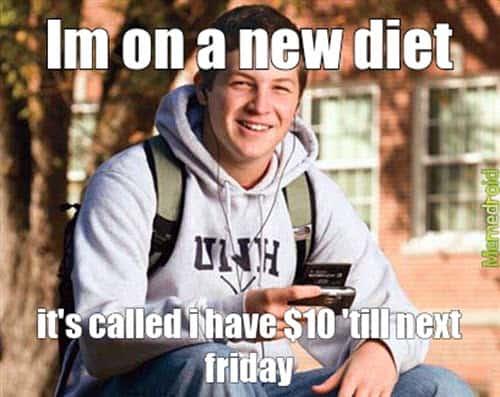 broke new diet meme