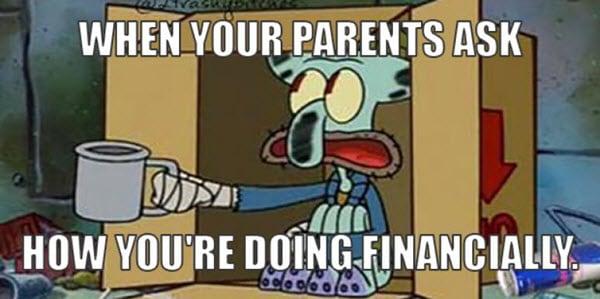 broke parents ask meme
