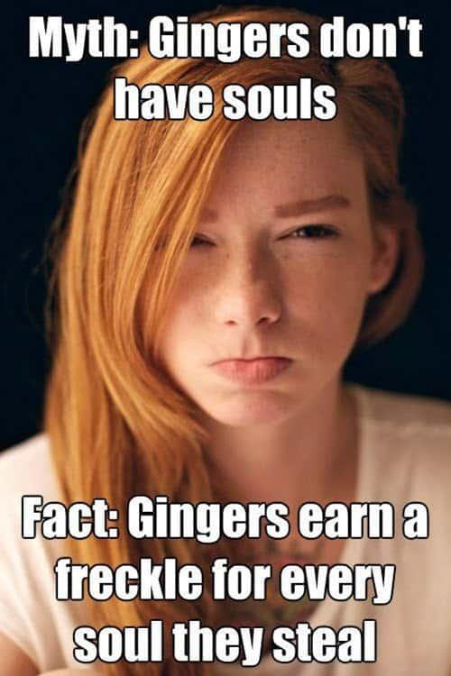 ginger myth meme