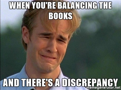 accounting discrepancy memes