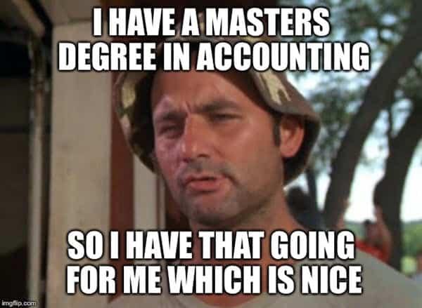 accounting masters degree memes