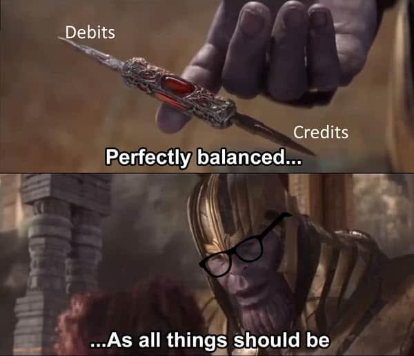 accounting perfectly balanced memes