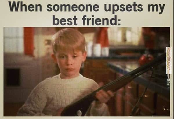 best friend upset memes