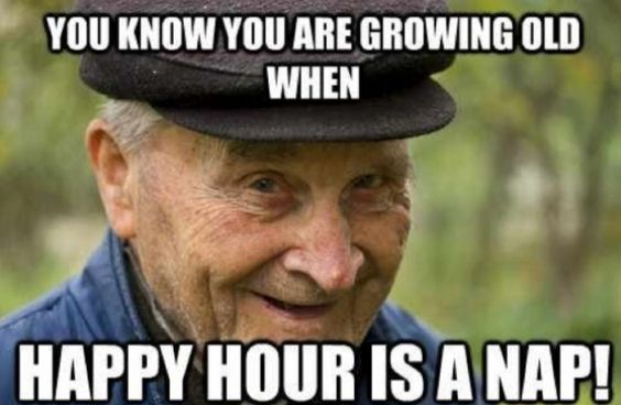 old people happy hour memes