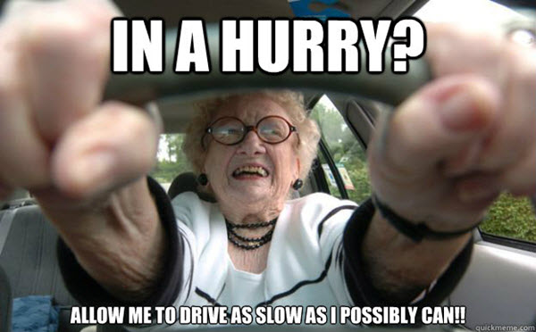 old people in a hurry memes