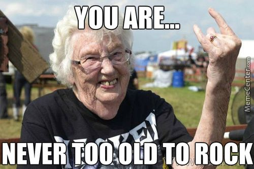 old people rock memes