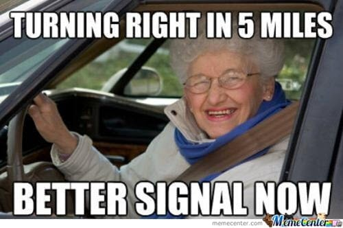 old people turning right memes