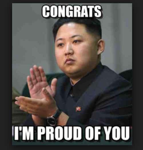proud of you congrats meme