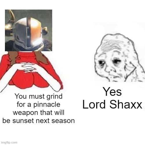 yes honey lord shaxx meme