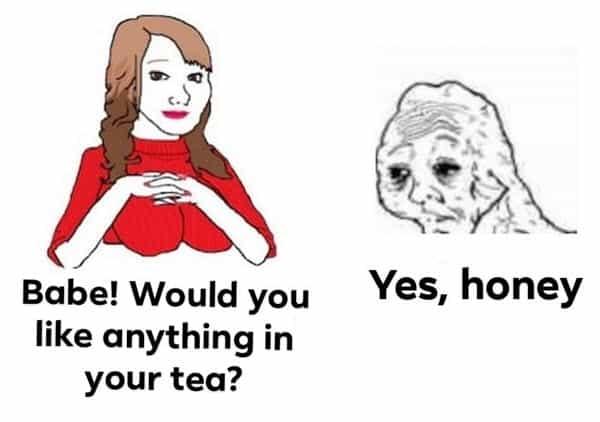 yes honey tea meme