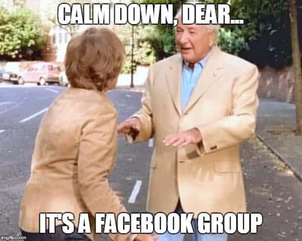 calm down dear meme