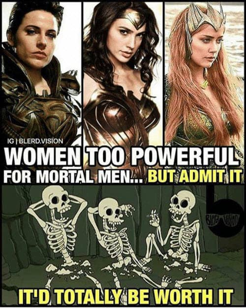 death by snu snu women too powerful meme