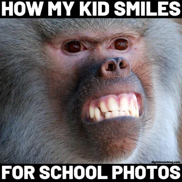 funny monkey school photo memes