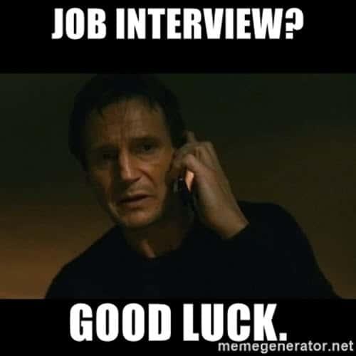 job interview good luck meme