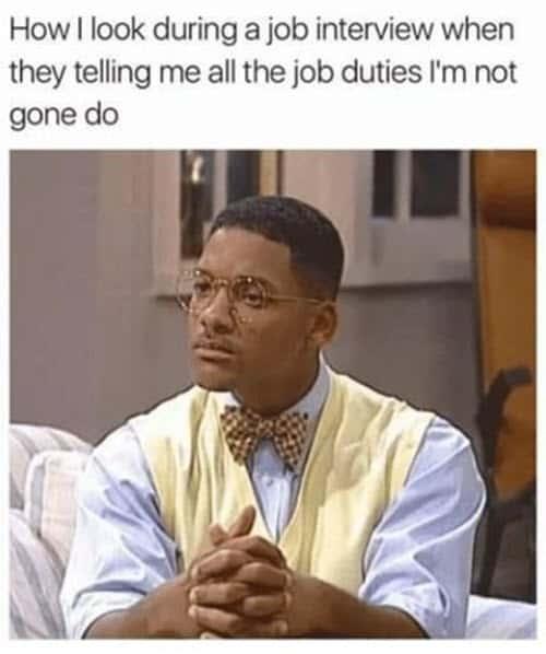 job interview how i look meme