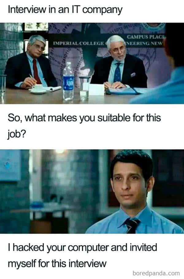 job interview it company meme
