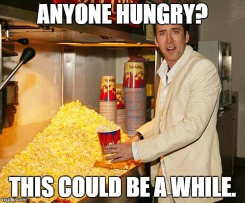 popcorn anyone hungry meme