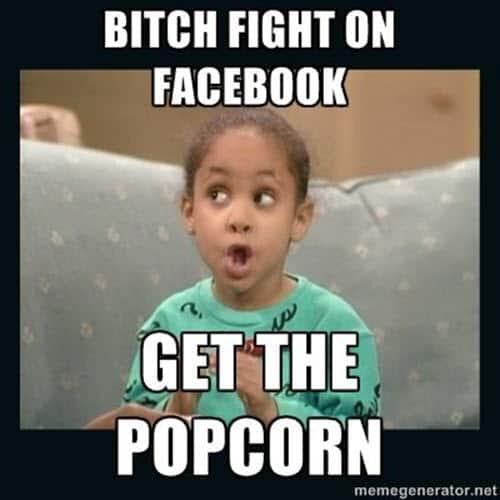 popcorn facebook fight meme