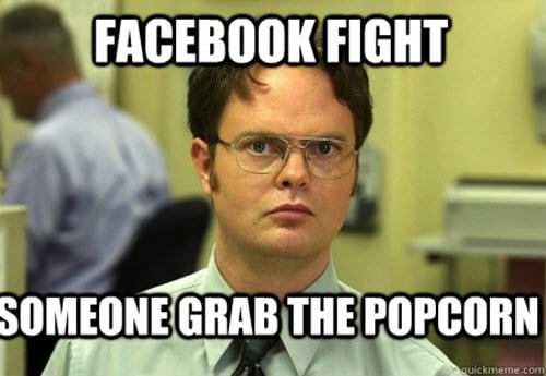 popcorn fight facebook meme