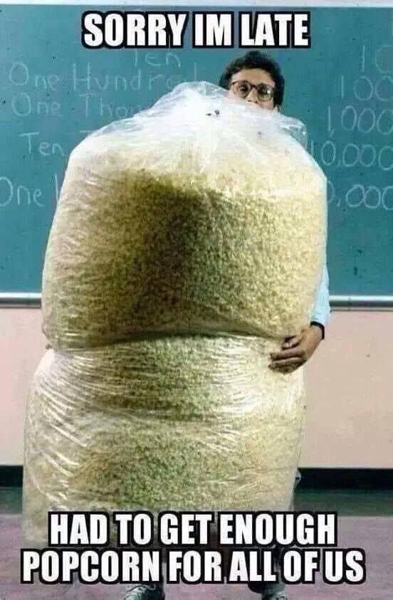 popcorn funny meme