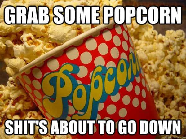popcorn grab meme