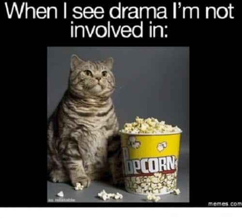 popcorn see drama meme