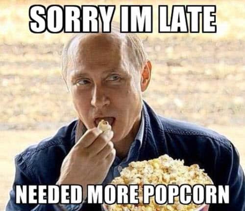 popcorn sorry meme