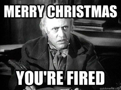 you re fired merry christmas meme