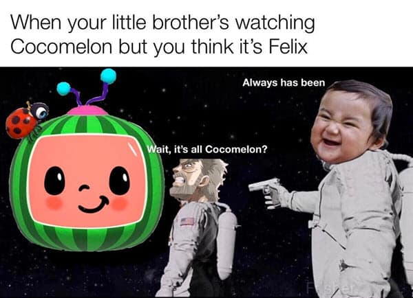cocomelon brother thinks meme