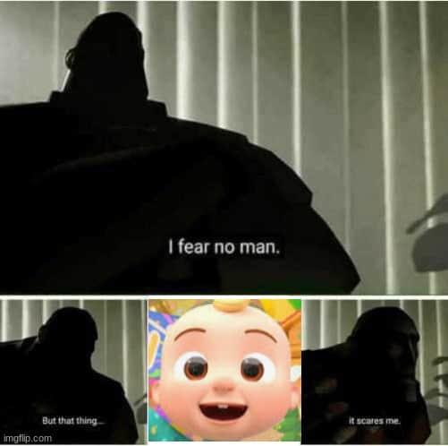 cocomelon i fear no man meme
