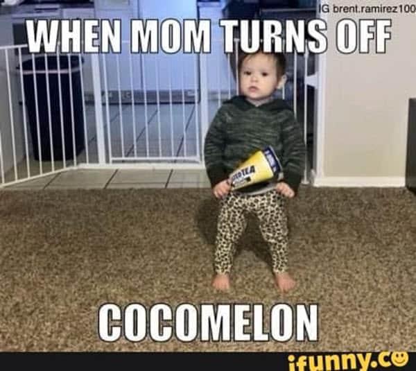 cocomelon turns off meme