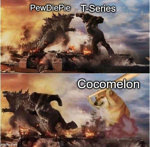 cocomelon vs pewdiepie meme