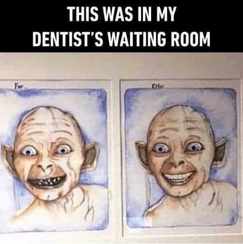 dentist waiting room meme