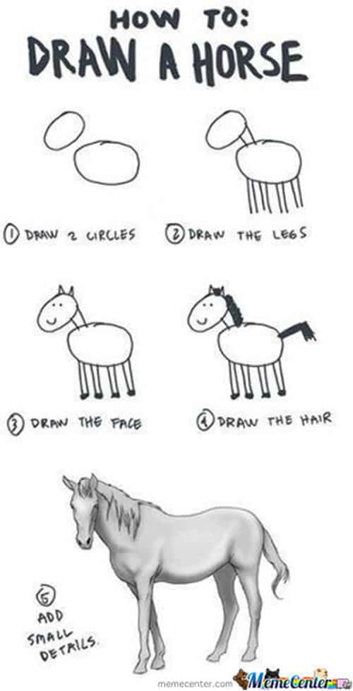 drawing draw a horse meme