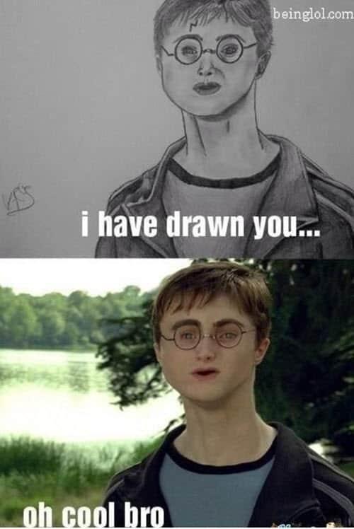 drawing harry potter meme