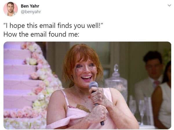 hope this email finds you well disaster memes