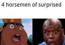 surprised face 4 horsemen meme