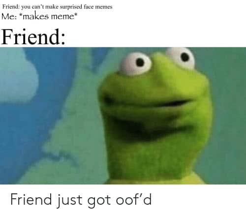 surprised face cant meme