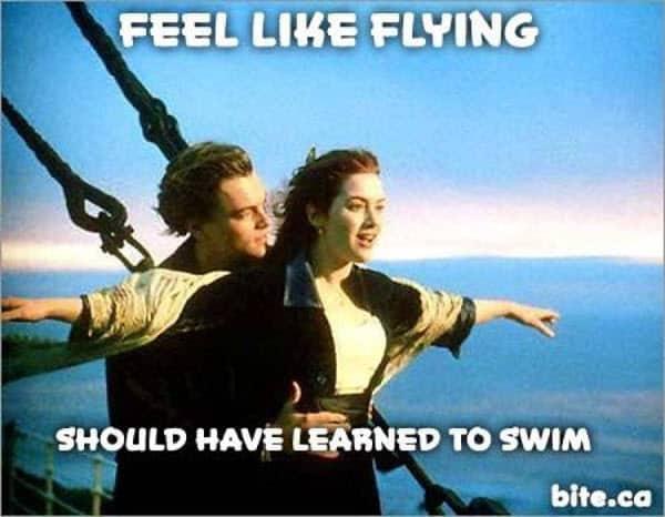 titanic feel like flying meme