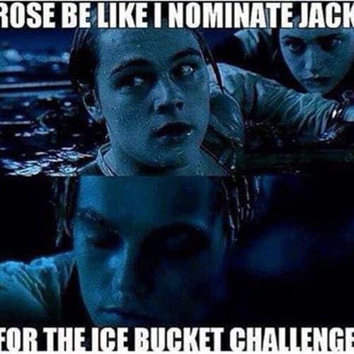 titanic ice bucket challenge meme