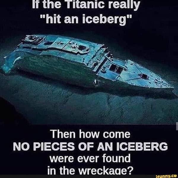 titanic iceberg where meme