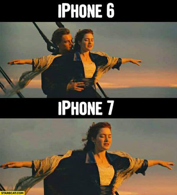 titanic iphone meme