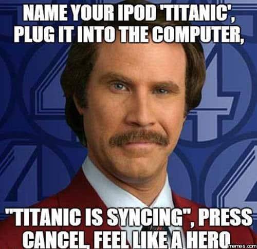titanic ipod meme