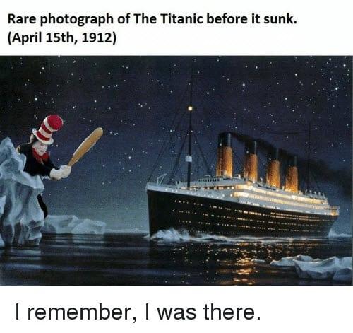 titanic rare photograph meme
