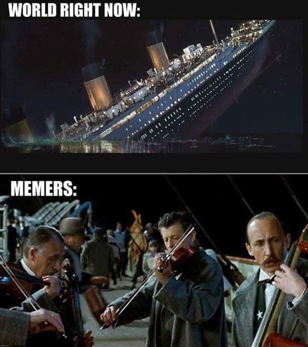 titanic world right now meme