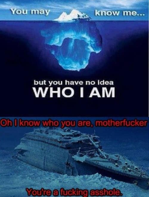 titanic you may know me meme